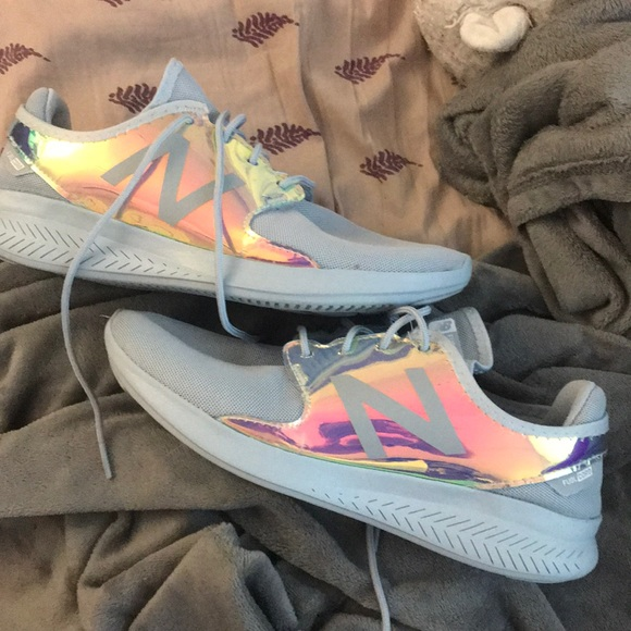 new balance holographic shoes